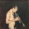 Corneliu Brudascu, Băiat Cântând La Trompetă