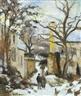 Camille Pissarro, LA MAISON RONDEST SOUS LA NEIGE, PONTOISE OR CHEMIN DE L'HERMITAGE, PONTOISE, SOUS LA NEIGE