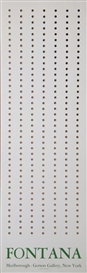 Artwork by Lucio Fontana, Marlborough-Gerson Gallery, Made of Serigraph Poster with Perforated Holes