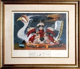 Artwork by Salvador Dalí, L'ativisme Desoxyribonucleique, Made of Lithograph with Engraving