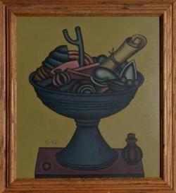 Artwork by Dmitry Krasnopevtsev, Still Life, Made of Oil on Board