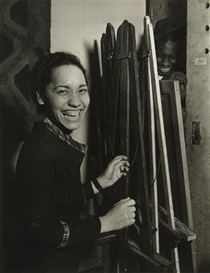 Artwork by Otto Hagel, African-American woman laughing, Made of Silver print