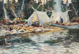 John Whorf, Camp by the Lake