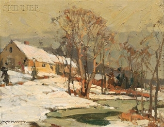New England Farm By Frederick J. Mulhaupt