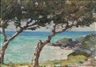 Clark Voorhees, Coastal View with Trees, Probably Bermuda