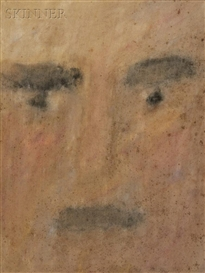 Artwork by Lucas Samaras, Untitled (Head) [Self-Portrait], Made of Mixed media on paper