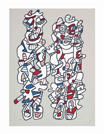 Artwork by Jean Dubuffet, Délègation (Webel 1167), Made of screenprint in colours