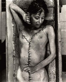 Artwork by Jeffrey Silverthorne, Woman who died in her sleep, Made of Silver print