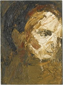 Artwork by Frank Auerbach, HEAD OF E.O.W., Made of oil on board