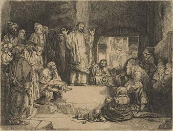 art analysis rembrandt christ preaching The following is a list of etchings by the dutch painter and etcher rembrandt, with  the  b352, 2, the artist's mother: head only, full face, 1628  rembrandt,  christ preaching (la petite tombe), circa 1652, rijksmuseum amsterdam.