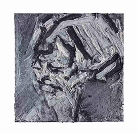 Artwork by Frank Auerbach, Portrait of Gerda Boehm III, Made of oil on canvas