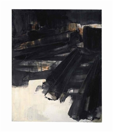 Artwork by Pierre Soulages, Peinture 202 x 156 cm, 27 mars 1961, Made of oil on canvas