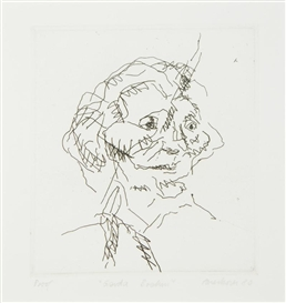 Artwork by Frank Auerbach, Gerda Boehm, Made of Etching, on Arches