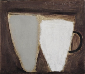 Artwork by Kevin Lincoln, Two Cups 4, Made of oil on canvas