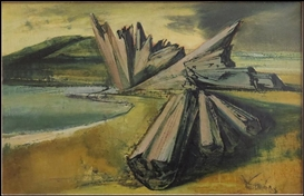 Artwork by Frederic Taubes, Driftwood, Made of Oil on canvas