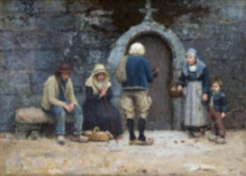 Nathaniel Hill, Breton Peasants at a Convent Door