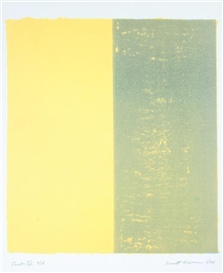 Artwork by Barnett Newman, CANTO VII (YELLOW), Made of Color lithograph