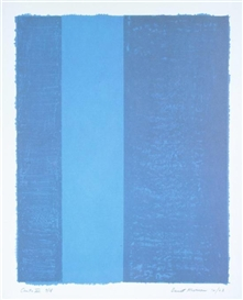 Artwork by Barnett Newman, CANTO VII (BLUE), Made of Color lithograph