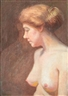 August Rolle, NUDE STUDY OF A CONTEMPLATIVE ANNA EBLETOFT ROLLE, THE ARTIST'S WIFE