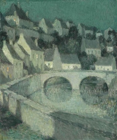 Artwork by Henri Eugène Augustin le Sidaner, La ville haute, Made of oil on canvas