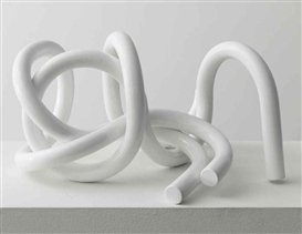 Artwork by Carol Bove, Tubular Glyph, Made of powder coated steel
