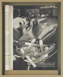 Artwork by Matthew Barney, DRAWING RESTRAINT 17: Evelyn McHale, Made of polyethylene frame