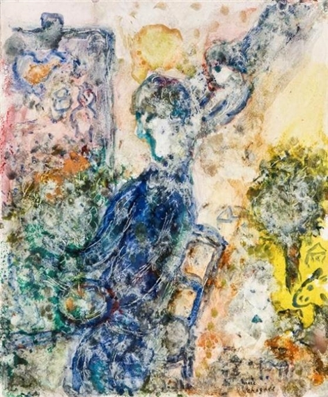 Chagall marc la peintre la palette 1983 mutualart for Chagall peintre