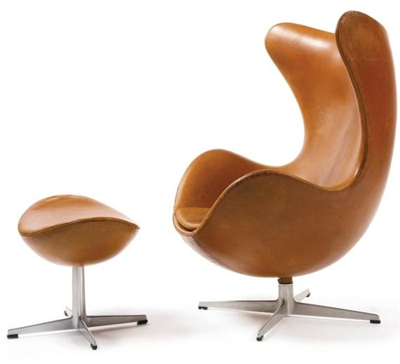 Jacobsen Arne Egg Chair Model No 3316 And Ottoman Model No 3127 Circa 1958 Mutualart