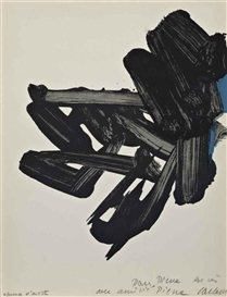 Artwork by Pierre Soulages, Lithographie No17 (Rivière 19, Encrevé 63), Made of lithograph in colours