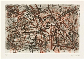 Artwork by Jean-Paul Riopelle, Abtract Composition, Made of Etching with aquatint