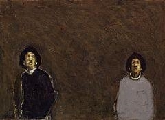 Artwork by Kurt Henning Trampedach Sørensen, Walking Figures, Made of Oil on board