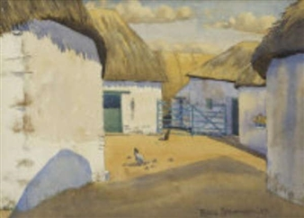 Cottages at Licketstown, Co. Kilkenny By Patric Stevenson ,1937