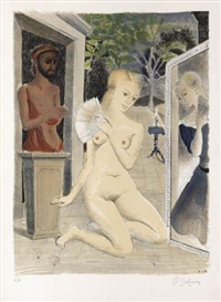 Artwork by Paul Delvaux, Eventail, Made of Color lithograph