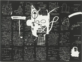 Artwork by Jean Michel Basquiat, UNTITLED, Made of silkscreen on canvas