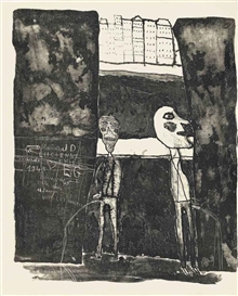 Jean Dubuffet, Set of 15 Works: Les Murs: 12 Poèmes de Guillevic (Webel 53-67)