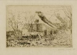 Artwork by James Ensor, Maisonettes à Mariakerke, Made of Etching