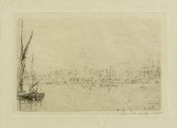 James Ensor, Vue du port d' Ostende