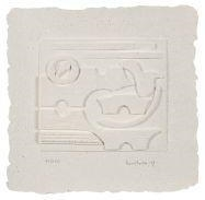 Artwork by Louise Nevelson, Untitled, Made of Cast paper relief print