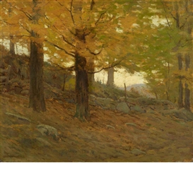 Artwork by Charles Warren Eaton, Yellow Leaf, Made of Oil on canvas