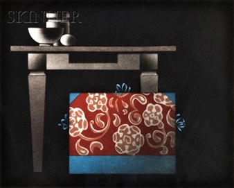 Japanese-themed Still Lifes: Le Japonais du Pere Sagot; L'endroit du decor By Mario Avati ,1974