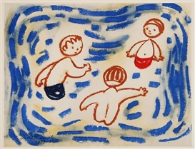 Artwork by Josef Capek, In the water, Made of litooffset