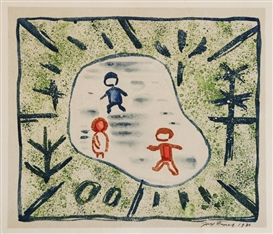 Artwork by Josef Capek, On ice, Made of litooffset