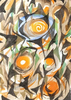 ABSTRACT WITH ORANGE By George Campbell