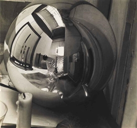 Artwork by Georg Muche, Reflections in a Sphere, Made of Gelatin silver print