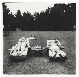 Artwork by Diane Arbus, A Family on their lawn one Sunday in Westchester, N.Y., Made of gelatin silver print