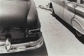 Artwork by Robert Frank, Daytona Beach, Made of gelatin silver print
