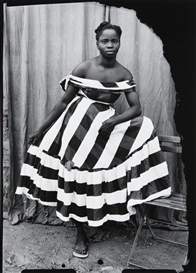 Artwork by Seydou Keïta, A Young Girl Wearing a 'Robe Samba' dress, Made of Gelatin silver print