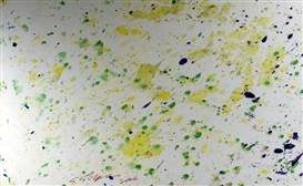 Artwork by Shozo Shimamoto, Helicopter performance dei legionari, Made of Mixed media on canvas