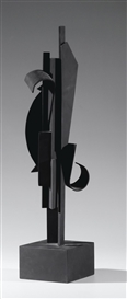 Artwork by Louise Nevelson, MAQUETTE FOR SKY HOOK, Made of welded steel