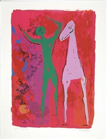 Artwork by Marino Marini, Piccolo Teatro, Made of Color lithograph on Rives